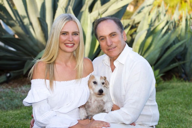 CEO Coach and Business & Family Strategist Timothy Karsten with his wife Karinna Karsten and their dog Sparky